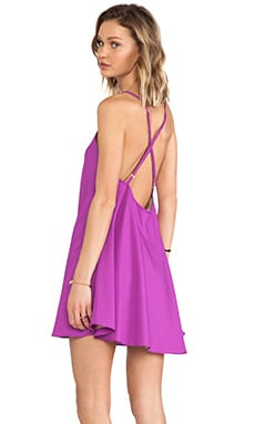 V Neck Babydoll Dress in Magenta