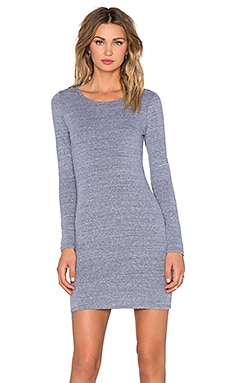 NYTT Long Sleeve Open Back Dress in Heather Grey