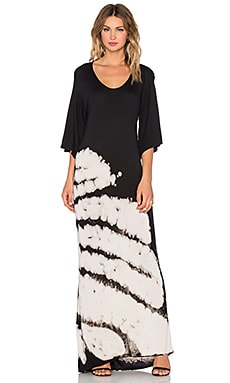 NYTT Boat Neck Maxi Dress in Black & White