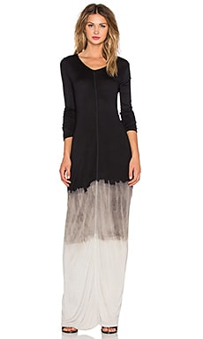 NYTT Long Sleeve Destroyed Maxi Dress in Black