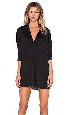 NYTT Long Sleeve Button Up Dress in Black