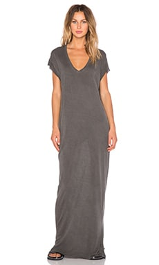 NYTT V Neck Maxi Dress in Black