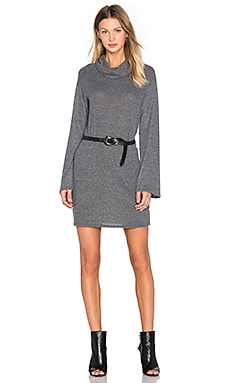 Funnel Neck Long Sleeve Dress