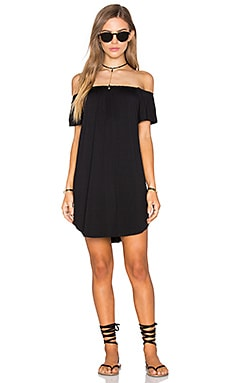 NYTT Milan Off The Shoulder Dress in Black