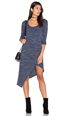 Asymmetrical Dress in Navy