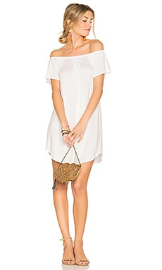 Milan Off The Shoulder Dress in White