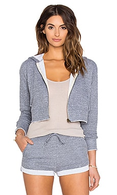 NYTT Aubrey Crop Sweatshirt in Heather Grey