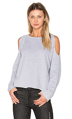 Cold Shoulder Sweatshirt in Heather Grey