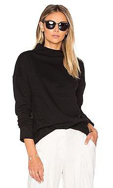 Mock Neck Sweatshirt in Black