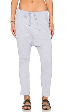NYTT Saige Kangaroo Pocket Sweatpants in Heather Grey