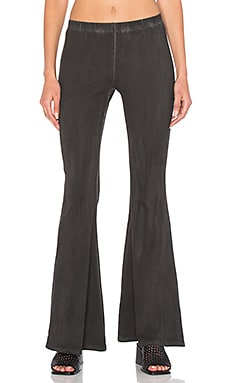 NYTT Flared Pant in Black Oil Wash