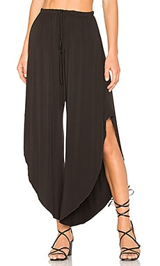 Slit Pant in Washed Black