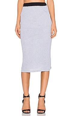 NYTT Midi Skirt in Heather Grey