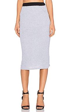 NYTT Midi Skirt in Heather Grey