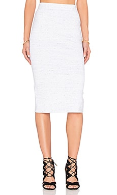 Portia Skirt in Marble Ponte