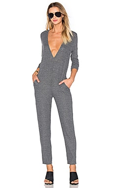 Low V Jumpsuit in Grey
