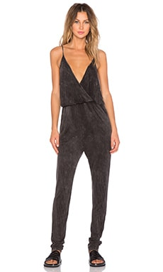 NYTT V Neck Jumpsuit in Black
