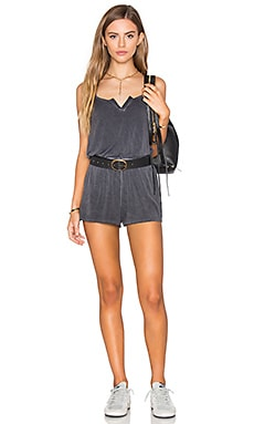 Jolee Romper in Black Oil Wash
