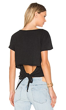 Tie Back Tee in Black