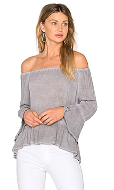 Ruffle Top in Grey