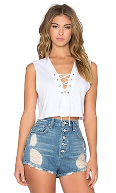 NYTT Avery Crop Top in White