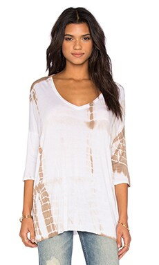 Rozanna Top in Taupe Minimal Tie Dye