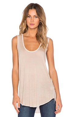 NYTT V Neck Tank in Dusty Pink