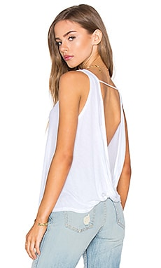 Peach Tank in White