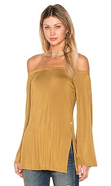 Off Shoulder Top in Gold