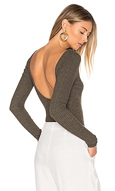 Wide Rib Bodysuit in Olive