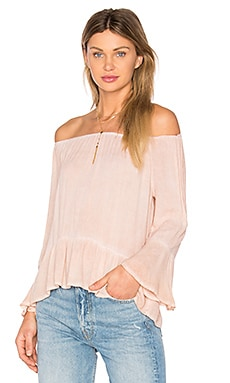 Ruffle Top in Blush