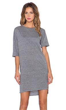 OAK Long Drop Shoulder Tee Dress in Heather Grey