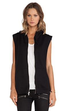 OAK Oversized Hoodie Vest in Black