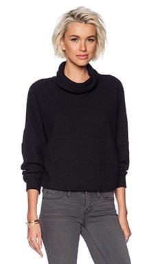 DROP SHOULDER TURTLENECK SWEATSHIRT