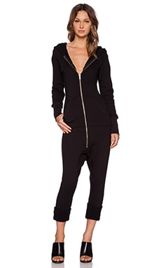 OAK Slouch Romper in Black