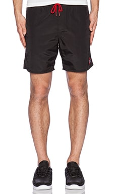 Obey Track Short in Black