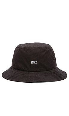 Obey Traverse Bucket Hat in Black