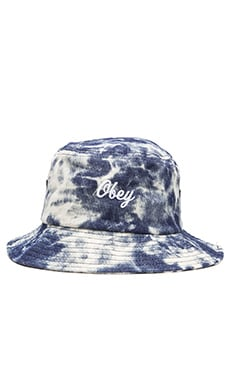 Obey Acid Bucket Hat in Indigo Multi