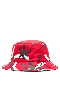 Obey Gulf Bucket Hat in Red Multi