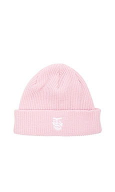Obey Creeper Beanie in Pale Pink