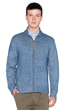 Obey New West Zip Sweater in Indigo