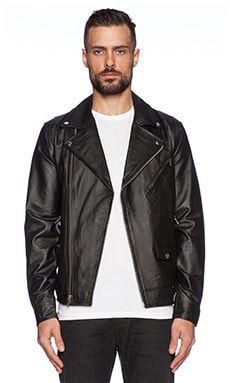 Obey Saint Bastards Leather Jacket in Black