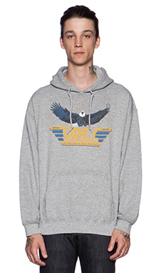 Obey Worldwide Pullover Hoody in Heather Grey