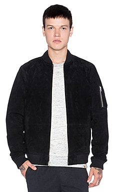 Obey Pilot Suede Jacket in Black