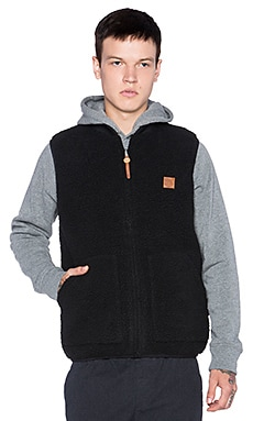 Obey Turnpike Vest in Black