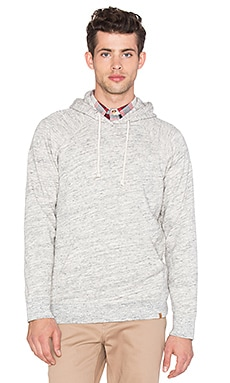 Obey Monument Terry Pullover Hood in Heather Oatmeal