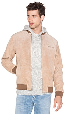 Obey Bunker Suede Jacket in Sand