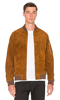 Obey Pilot Suede Jacket in Caramel