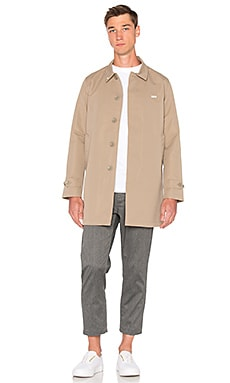 Obey Sneaky Trench Coat in Tan