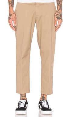 Obey Straggler Flooded Pant in Khaki